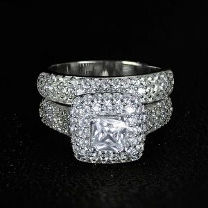 Stamped 925 Sterling Silver Engagement/Wedding Set - Code UR91 for Sale in Sacramento, CA