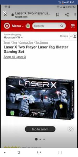 Laser X Tag Game for Two for Sale in Tulsa, OK
