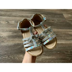 Silver now sandals for Sale in Fort Campbell, KY