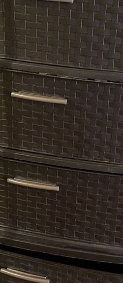 2 Sterilite 3 Drawer Wide Weave Tower Espresso ( Move out sell) for Sale in Boston,  MA