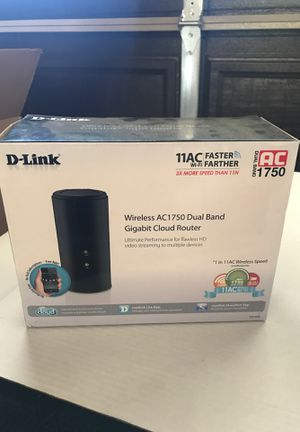 D Link Wireless AC1750 dual band gigabit cloud router for Sale in Escondido, CA