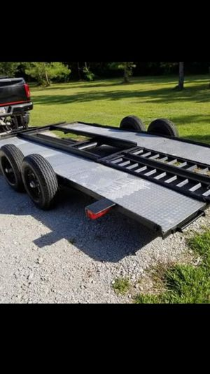 14' car trailer. New tires with ramps for Sale in Aiken, SC