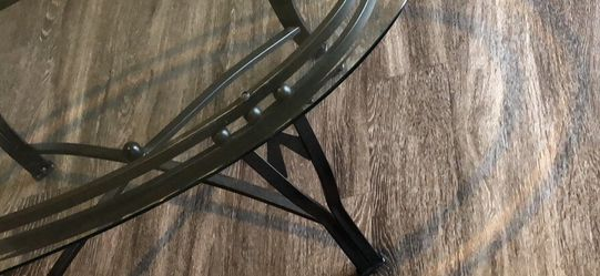 Black Oval Glass Top Coffee Table for Sale in Franklin,  TN