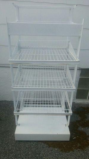 Metal rack with adjustable shelves for Sale in Essex, MD