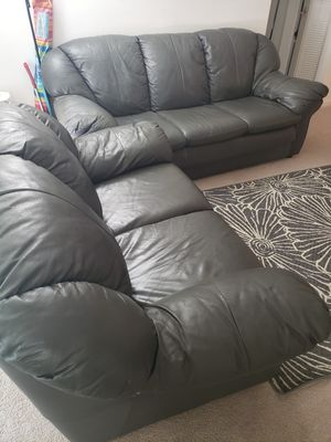 Leather sofa with loveseat for Sale in Fairfax, VA