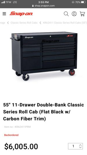 SNAP ON Tool box classic carbon fiber edition for Sale in Hialeah, FL