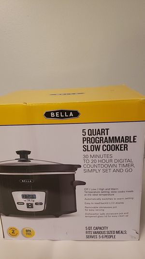 Bella 5 Quart programmable slow cooker for Sale in Stony Point, NY