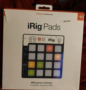 IK media IRig midi controller/beat pad for Sale in Inverness, FL