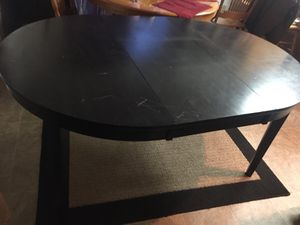 Black kitchen table/2 chairs for Sale in Pine River, MN