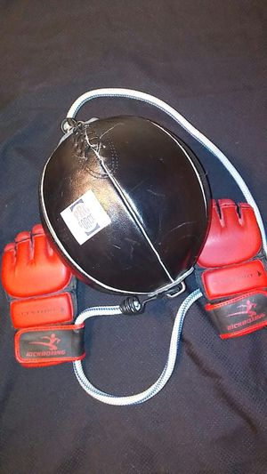Speed bag and gloves for Sale in Henderson, NV