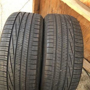 A pair Goodyear tires Size 245/45/r19 for Sale in Buffalo, NY