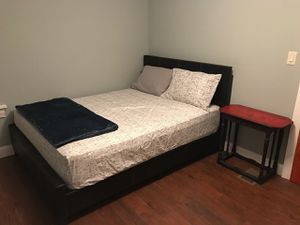 Brand New Queen Size Brown Leather Platform Bed Frame ONLY for Sale in Silver Spring, MD