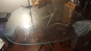Clear Glass Dining Table for Sale in Fairfax, VA