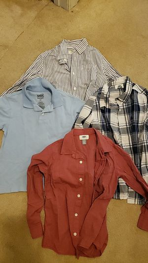 4 Boys collared shirts 6/7 - 3 long sleeved, 1 short sleeved polo for Sale in Cleveland, OH