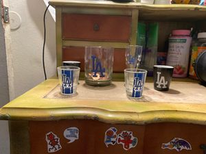 Dodgers collectible shot glasses and glass cup for Sale in Norwalk, CA