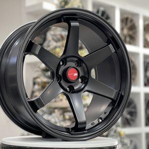 "18"" Te37 Style Wheels Rims 5x114.3 Fit Honda Civic Accord Hyundai Genesis Subaru Mitsubishi Lexus Toyota Nissan for Sale in Brooklyn, NY"