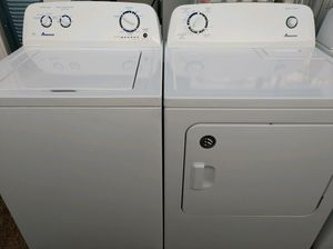 """AMANA"" RECENT MODEL LIKE NEW MATCHING SET WASHER AND ELECTRIC DRYER SUPER CAPACITY PLUS for Sale in Phoenix, AZ"