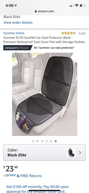 Summer Car Seat Protector. Don't ruin your car's upholstery with your child's car seats that eats into the leather or upholstery. This also protects for Sale in Carol Stream, IL