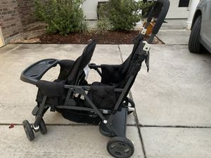 Joovy twin stroller! Perfect for going through doors or tighter spaces!! Really good condition! for Sale in Prairieville, LA