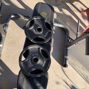 "Fitness Gear 35lb. Olympic Weight Plates (2 Plates) 2"" for Sale in Norwalk, CA"