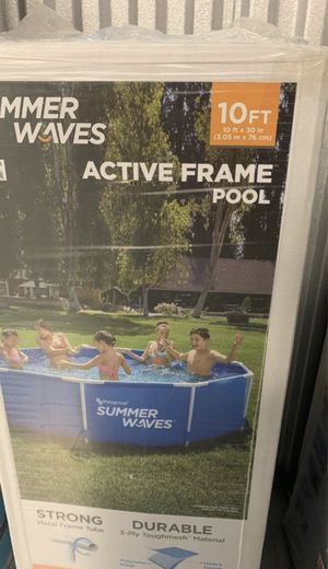 Summer Waves 10 x 30 Active Frame Pool - In-Hand-SAME DAY MEETUP - Brand new in box. for Sale in Cherry Hill, NJ