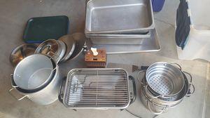 Restaurant Stainless Steel Trays, Steam Table Pans, Big Pots & Lids for Sale in Hemet, CA