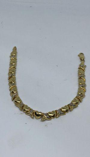 14k heart bracelet for Sale in Greenwich, CT