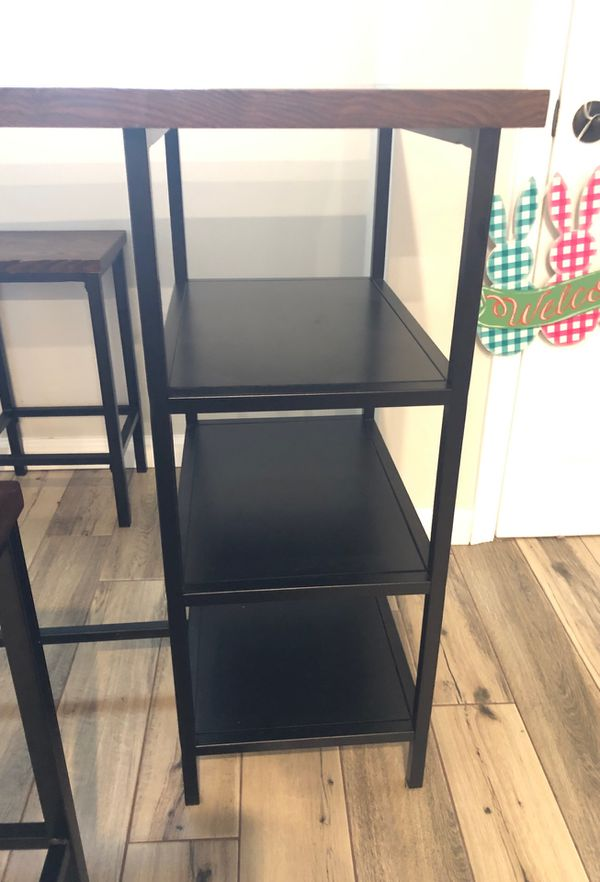 Small table with shelf space