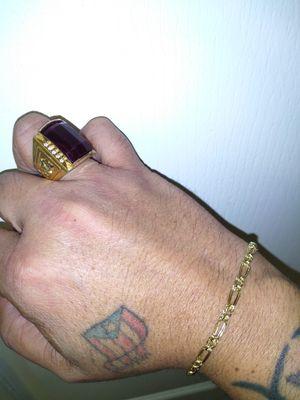 14k gold ring and 10k bracelet for Sale in Phoenix, AZ