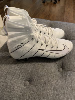 Nike Vapor Untouchable 3 Elite Football Cleats White Black AH7408-110 Size 11 for Sale in Ceres, CA