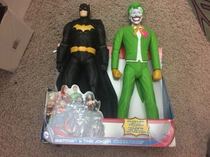 "20"" large Batman and joker dc collectibles action figure for Sale in Columbus, OH"