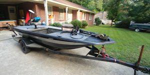 Peterson 16 foot fiberglass electric fishing boat for Sale in Dallas, GA