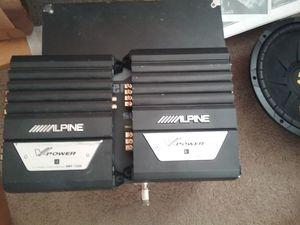 2 alpine mrp 220s car amplifiers for Sale in Renton, WA