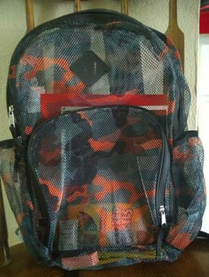 Camo Print Backpack w/ Supplies for Sale in Phoenix, AZ