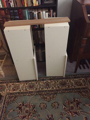 White Hanging Shelves with Sliding Panels for Sale in Philadelphia, PA