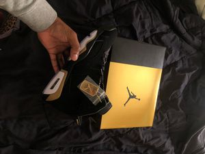 "Air Jordan retro 6 (2020) black/metallic gold ""Defining Moments"" for Sale in Cleveland, OH"