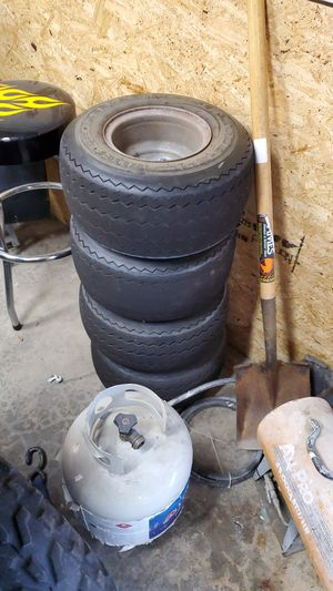 Golf cart tires and rims 4 lug for Sale in Buckley, WA