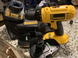 Dewalt Drill - 2 battery's, charger, bag - never used for Sale in Deerfield Beach, FL
