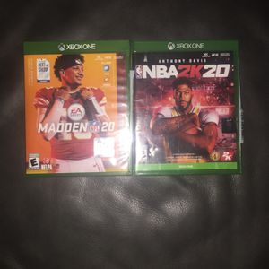 Madden 20 / NBA 2k 20 Bundle, For Xbox One for Sale in Mesa, AZ