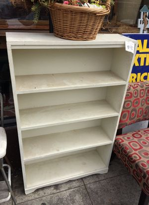 "White Bookcase...30 x 9 x 48""… $40 for Sale in San Diego, CA"