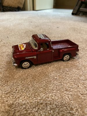1955 Chevy StepSide 1:36 Scale Pickup Truck Red maroon car toy diecast vintage Chevrolet rare collectible for Sale in Buena Park, CA