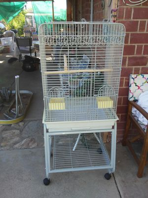 Sturdy Iron bird cage on stand with wheels for Sale in Phoenix, AZ