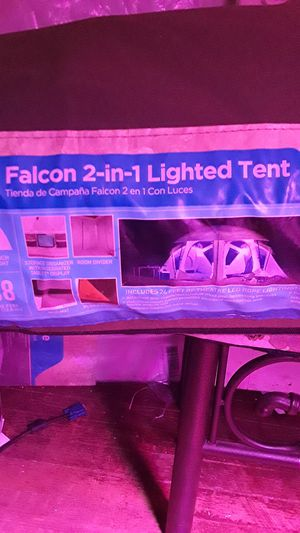 Falcon 2 in 1 lighted tent for Sale in Cleveland, OH
