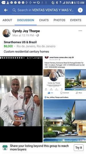 Smarthomes Atlanta & Brazil for Sale in South Burlington, VT