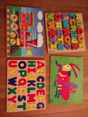 Lot of 4 toddler/pre-K wood puzzles for Sale in McLean, VA