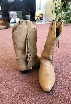 ACME fringed cowgirl boots for Sale in Boiling Springs, SC