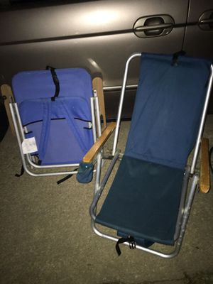 Backpack beach chairs LNEW only 25 each FIRM for Sale in Glen Burnie, MD