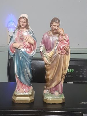 Antique religious statues with inscense holders over 40 years old for Sale in Southbridge, MA