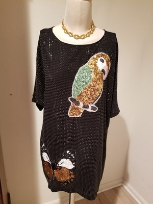 Gucci black sequined embellished tunic dress 42 for Sale in West Hollywood, CA
