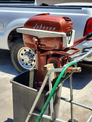 1957 Johnson 10 horsepower long shaft outboard for Sale in Midway City, CA